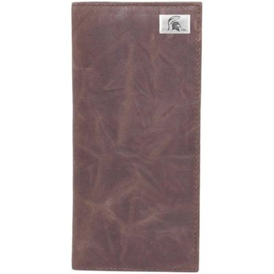 Michigan State Spartans Leather Secretary Wallet with Concho - Brown