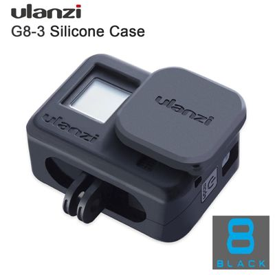 Ulanzi G8-3 Vlog Soft Protective Case with Camera Lens Cap for GoPro Hero 8 Silicone Droproof Vlogging Case Cage Kit