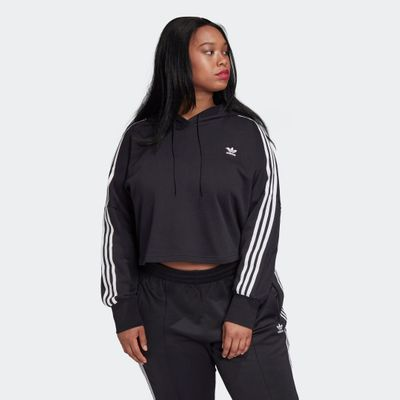 Adidas Cropped Hoodie (plus Size)