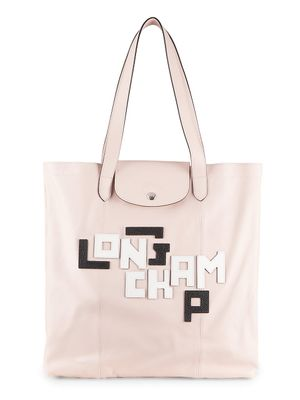 Longchamp Logo Leather Tote