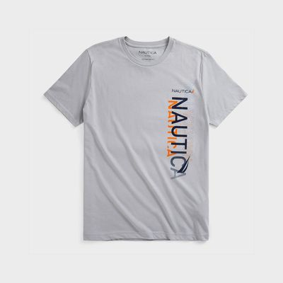 Nautica Sustainably Crafted Vertical Logo Graphic T-shirt