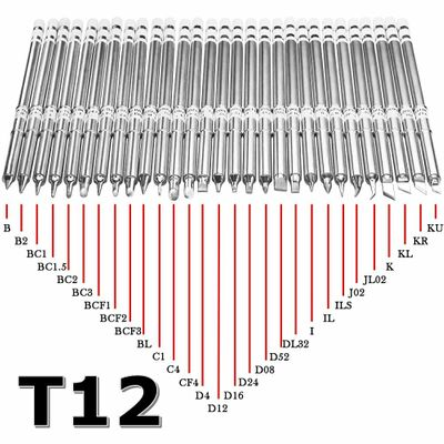 T12 Series Soldering Iron Tips for  HAKKO T12  Handle LED vibration switch Temperature Controller FX951 FX-952