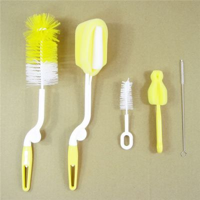 5pcs/set Bottle Brush Sponge Plastic Glass Milk Water Cup Cleaning Feeding Bottle Dummy Nipple Pacifier Brushes Tube Cleaner