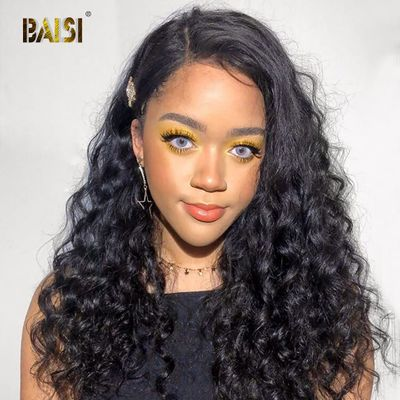 BAISI 360 Lace Frontal Wig Lace Front Human Hair Wigs With Pre-Plucked Hairline Human Hair Wig Natural Wave Wigs Brazilian Hair