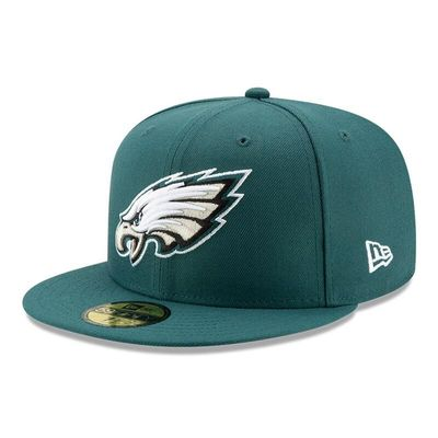 Philadelphia Eagles New Era Omaha 59FIFTY Fitted Hat - Midnight Green