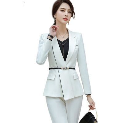 Business Women's Trousers New Form Long Sleeve Long Sleeve And Trousers Office Women's Interview Work Clothes Maternity