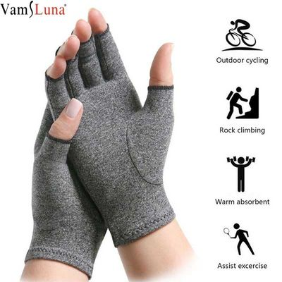 Size S/M/L 1 Pair Women Men Cotton Elastic Hand Arthritis Joint Pain Relief Gloves Hand Therapy Open Fingers Compression Gloves
