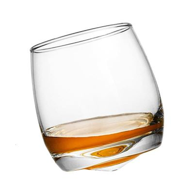 Creative Cone Rotate Gyro Old Fashioned Whiskey Glass Tumbler Spirit Cup Brandy Snifter Verre Whisky Rock Glass der Whiskybecher