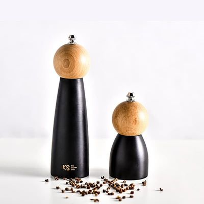 Modern style Wooden Ceramic core Spice Nut Grinder Hand Grinding Bottle Homde Decoration Kitchen Tool For Salt Pepper