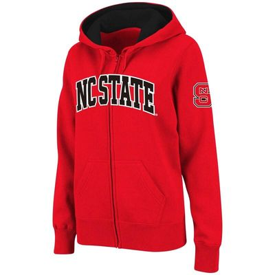 NC State Wolfpack Stadium Athletic Women's Arched Name Full-Zip Hoodie - Red