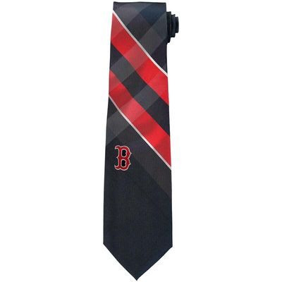 Boston Red Sox Woven Poly Grid Tie
