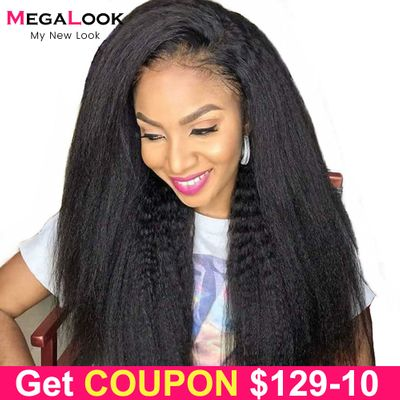 4x4 Closure Wig Peruvian Lace Wig Humain Hair Kinky Straight Wigs For Black Women 30 Inch Lace Closure Wig 13x4 lace front Wig