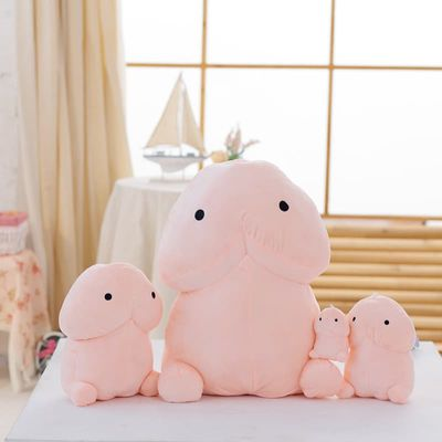 1pc 10/20/30/50cm Funny Plush Penis Pillow Doll Soft Stuffed Creative Simulation Penis Pillow Cute Sexy Kawaii Toy Gift for Girl