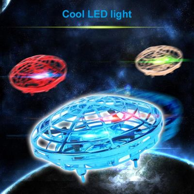 Mini Kid 4 Axis UFO 360 degree rotation flying LED Induction Hand Flying Aircraft Toy Induction Drone Children Electronic Toy
