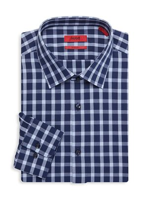 HUGO Mabel Sharp-Fit Gingham Dress Shirt