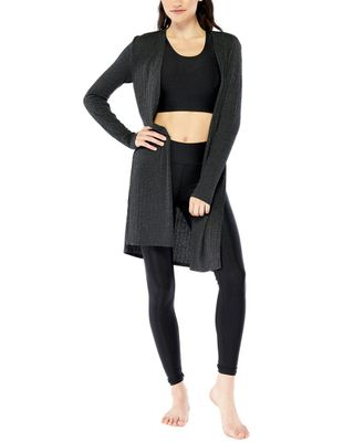 Electric Yoga Ribbed Slitted Cardigan