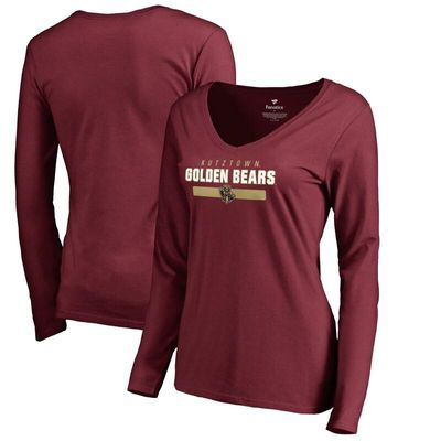Kutztown Golden Bears Women's Team Strong Long Sleeve T-Shirt - Maroon