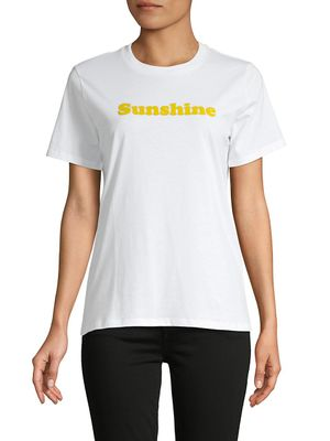 French Connection Flocked Sunshine Cotton T-Shirt