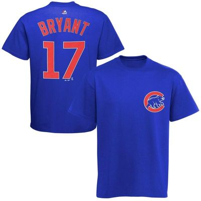 Kris Bryant Chicago Cubs Majestic Big & Tall Official Player T-Shirt - Royal