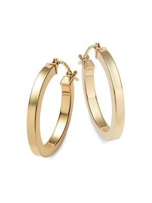Saks Fifth Avenue 14K Yellow Gold Hoop Earrings
