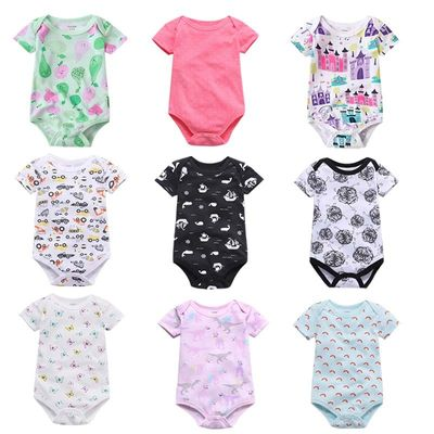 New Baby rompers 100% Cotton Infant Body Short Sleeve Clothing baby Jumpsuit Cartoon Printed Baby Boy Girl clothes 0-24m