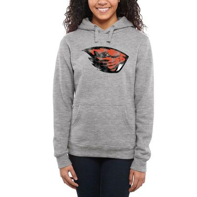 Oregon State Beavers Women's Classic Primary Pullover Hoodie - Ash -