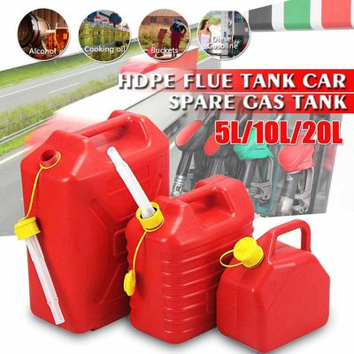 5L/10L/20L Fuel Tanks Plastic Petrol Cans Car Jerry Can Mount Motorcycle Jerrycan Gas Cans Gasoline Oil Container fuel Canister