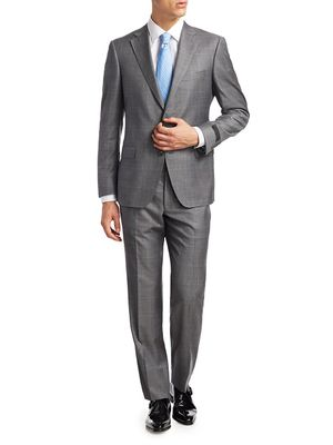 Saks Fifth Avenue COLLECTION BY SAMUELSOHN Plaid Suit