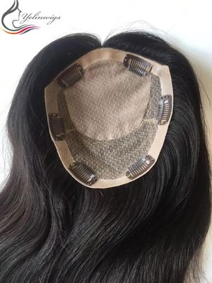 Customized Order Full Handtied Silk Top European Virgin Hair Topper With Free Shipping