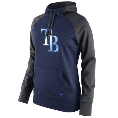 Tampa Bay Rays Nike Women's All Time Performance 1.5 Pullover Hoodie - Navy