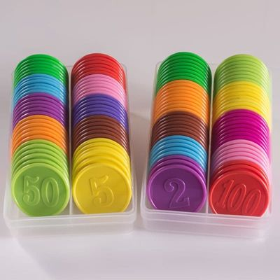 10pcs/lots!Plastic Poker Chip for Gaming Tokens Plastic Coins Family Club Board Games Toy Creative Gift For Children