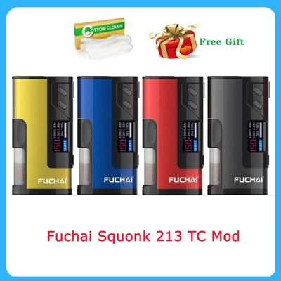 Clearence! Fuchai Squonk 213 TC Mod 150W fit for 21700/20700/18650 battery Atomizer Electronic Cigarette vape box mod