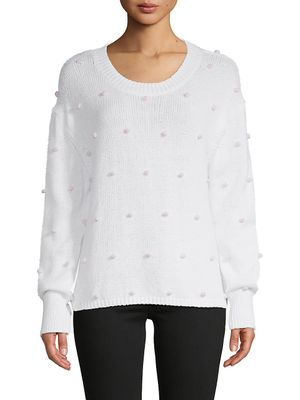 525 America Ball-Embellished Cotton Sweater