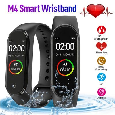 Sport M4 Smart Bracelet  Ip67 Waterproof Color Screen  Bluetooth Call Information Push Heart Rate Step Exercise Bracelets