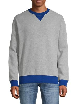 French Connection V-Inset Cotton-Blend Sweatshirt