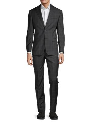Michael Kors Windowpane Check Wool Suit