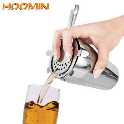 HOOMIN Ice Strainer Barware Cocktail Shaker Filter Bar Tools Stainless Steel