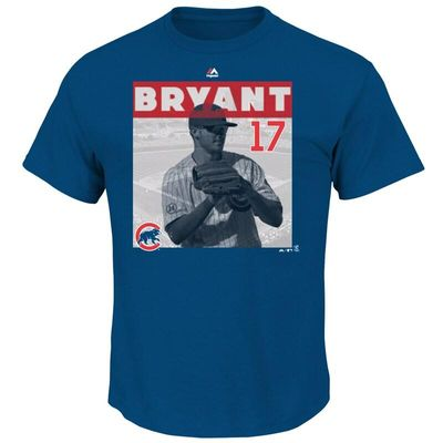 Kris Bryant Chicago Cubs Majestic League Competitor Player T-Shirt - Royal