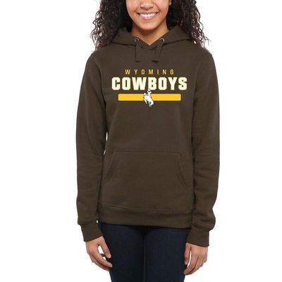Wyoming Cowboys Women's Team Strong Pullover Hoodie - Brown