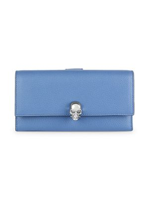 Alexander McQueen Pebbled Leather Continental Wallet