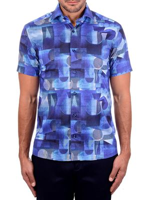 Bertigo Geometric Graphic Short-Sleeve Shirt