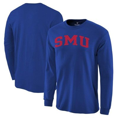 SMU Mustangs Basic Arch Long Sleeve T-Shirt - Royal