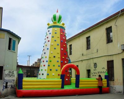 Giant inflatable climbing wall with good quality for entertainment