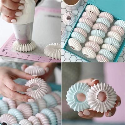New Arrival Sulta Ne Ring Cookies Mold Piping Nozzles Russian Nozzles Icing Piping Nozzles Set Cake Decorating Pastry Tip