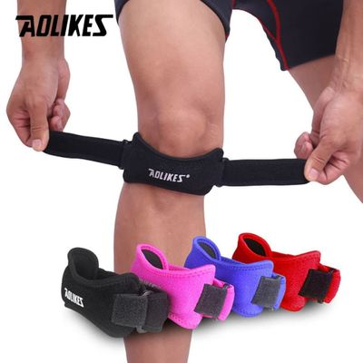 1PCS Adjustable Knee Patellar Tendon Support Strap Band Knee Support Brace Pads for Running basketball Outdoor Sport
