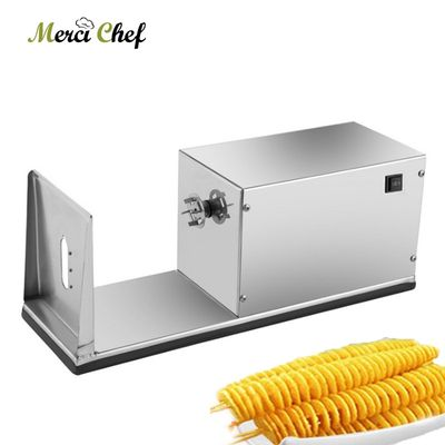 ITOP Automatic Electric Twisted Potato Slicer Machine Stainless Steel High Quality Vegetable Fruit Spiral Potato Slicer Cutter