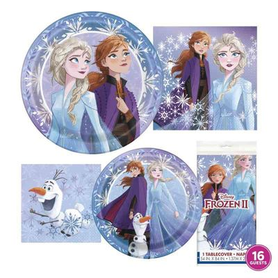 Disney Frozen Birthday Party Tableware Kit for 16 Guests - Frozen Party Supplies