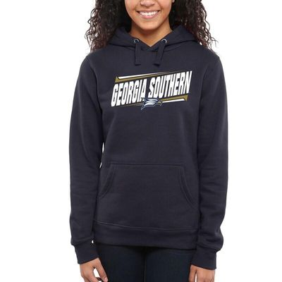 Georgia Southern Eagles Women's Double Bar Pullover Hoodie - Navy