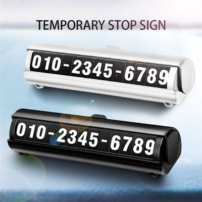2019 Hot Car Temporary Stop Sign Mobile Luminous Phone Number Parking Card Auto Accessories Decoration Styling Dropshipping