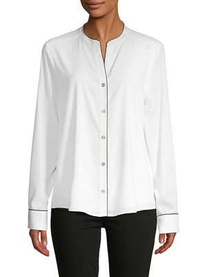 Tommy Hilfiger Long-Sleeve Button-Front Shirt